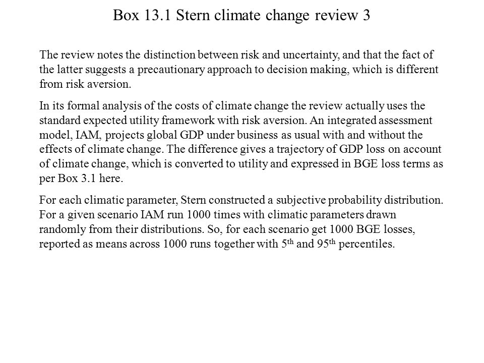Box 13.1 Stern climate change review 3