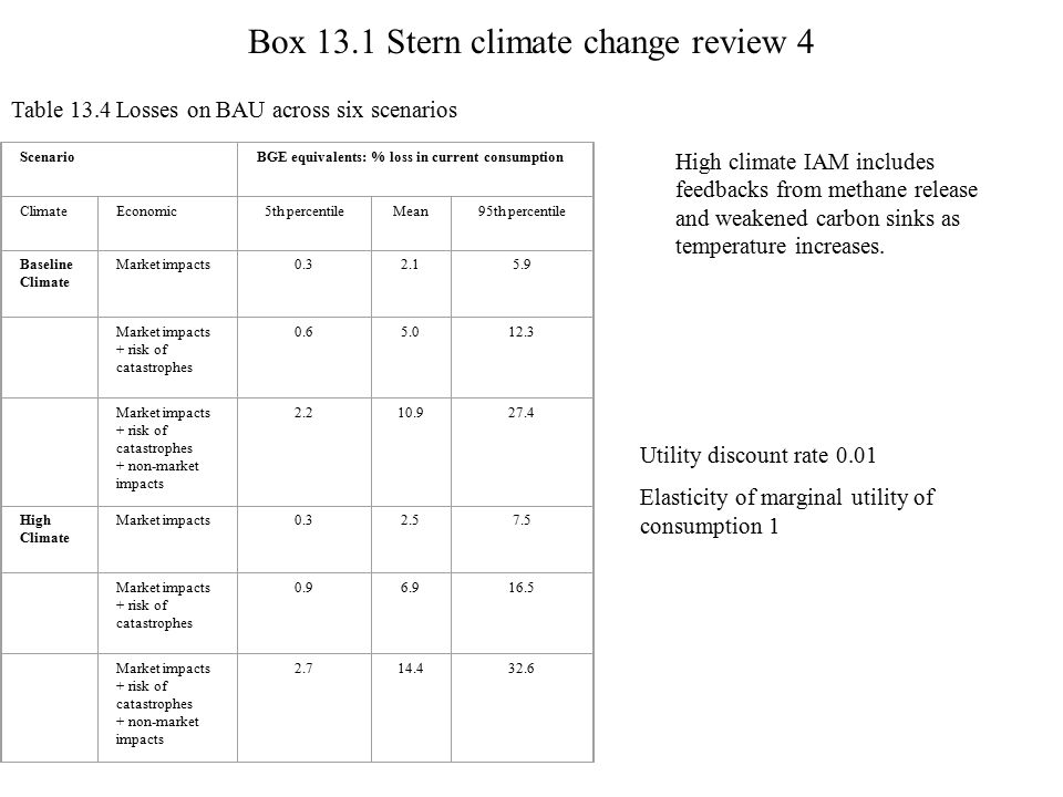 Box 13.1 Stern climate change review 4