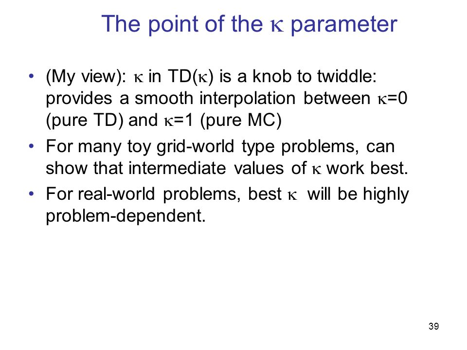 The point of the  parameter