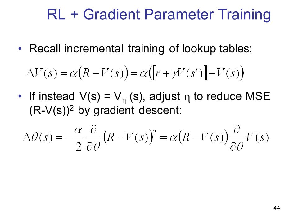 RL + Gradient Parameter Training
