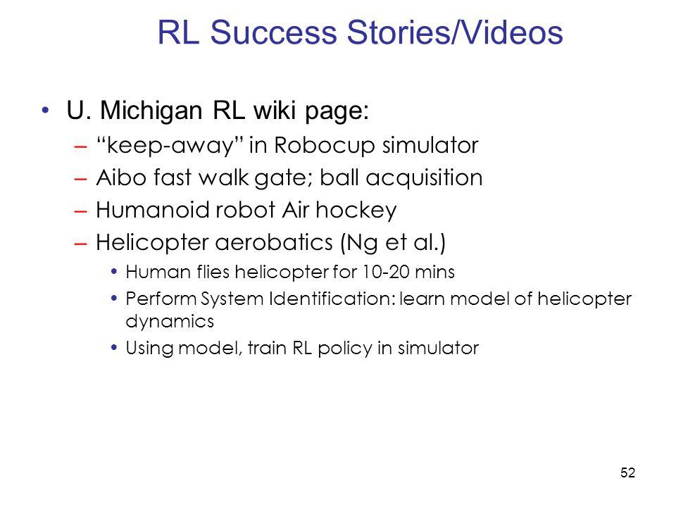 RL Success Stories/Videos