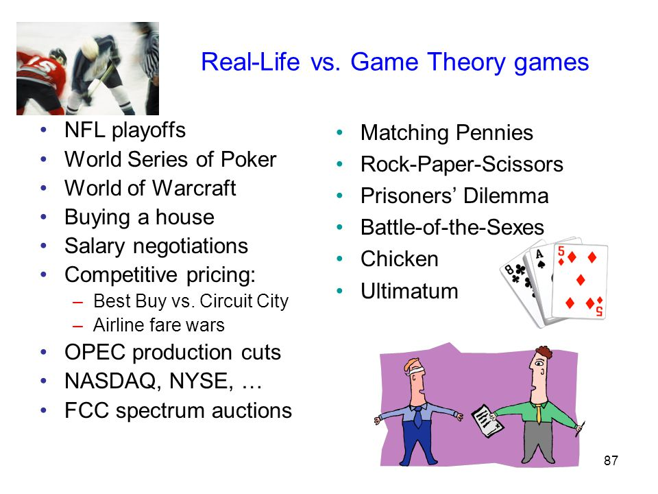 Real-Life vs. Game Theory games