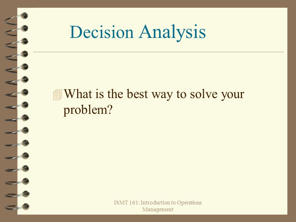 10 decision areas operations management