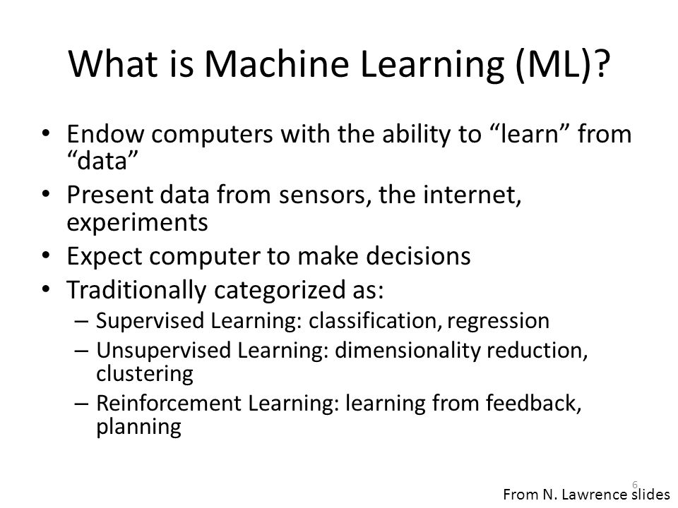 What is Machine Learning (ML)
