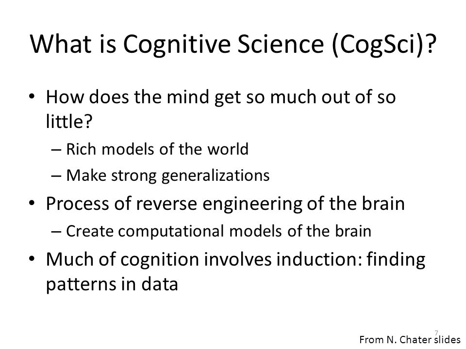 What is Cognitive Science (CogSci)