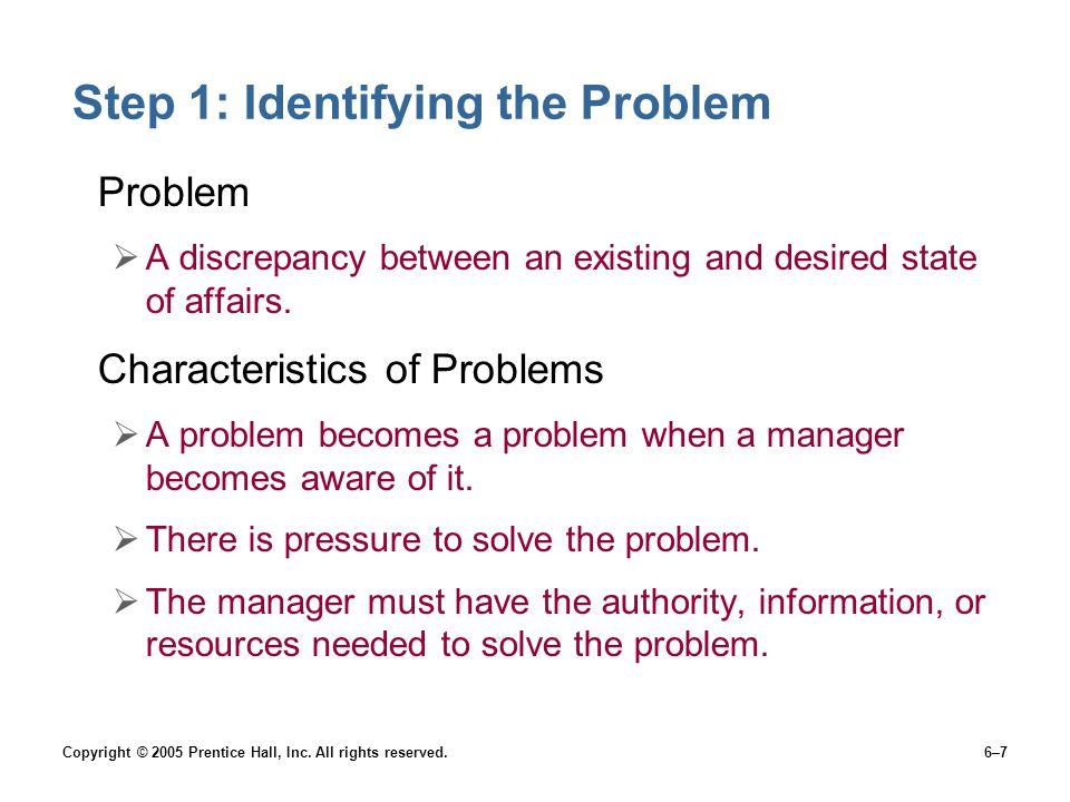 Step 1: Identifying the Problem