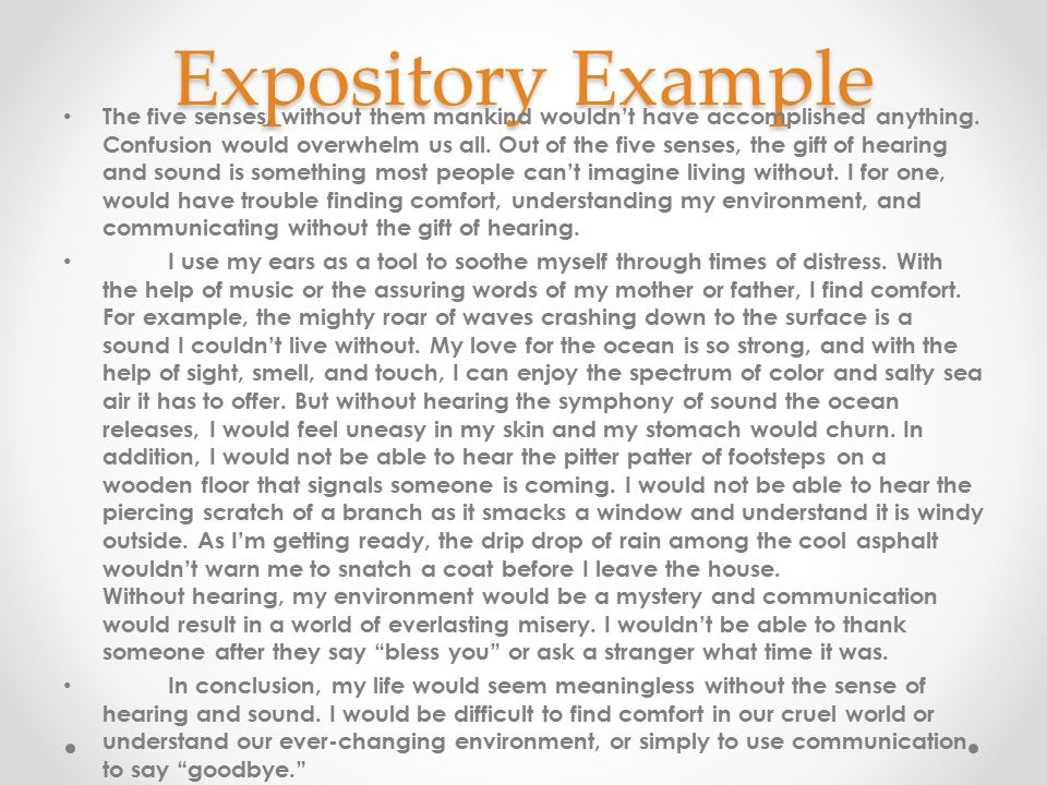 Expository Example