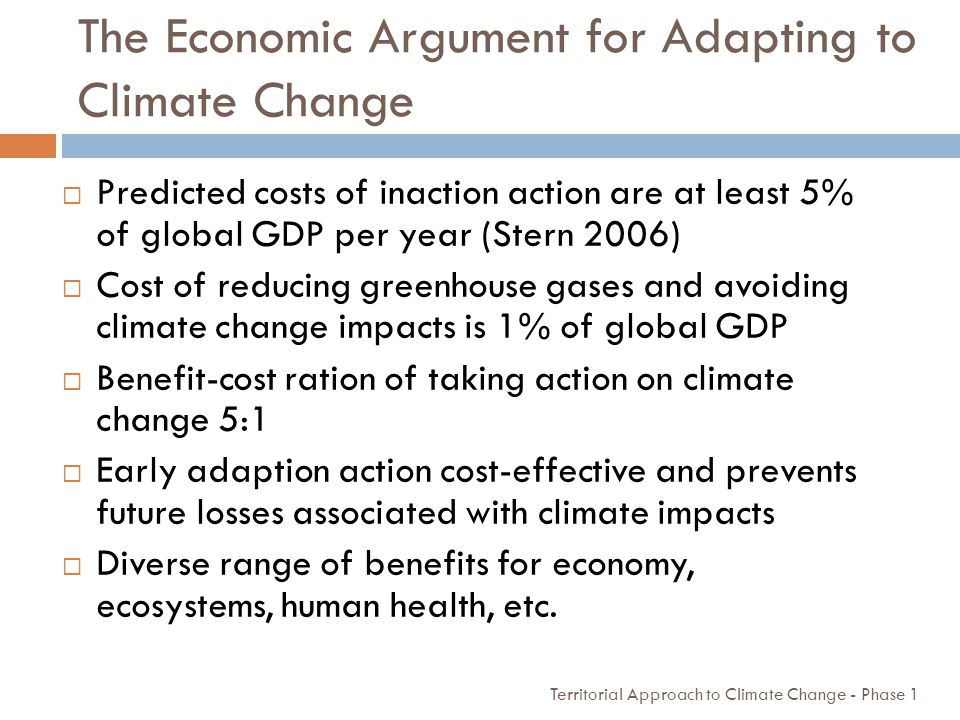 The Economic Argument for Adapting to Climate Change
