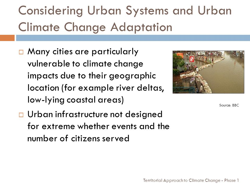 Considering Urban Systems and Urban Climate Change Adaptation