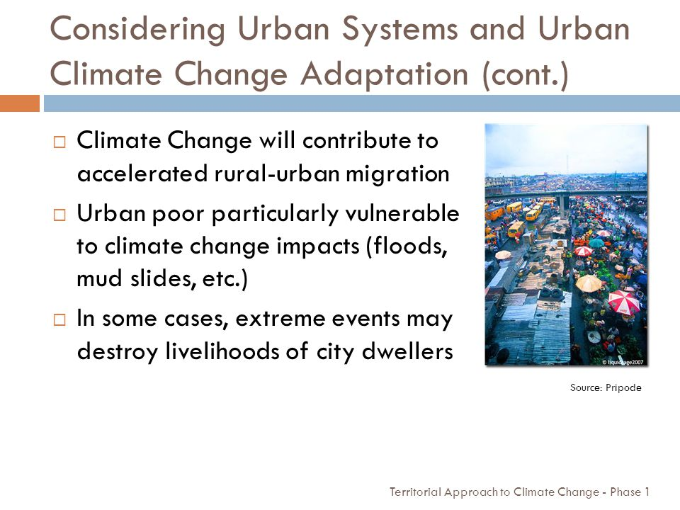 Considering Urban Systems and Urban Climate Change Adaptation (cont.)
