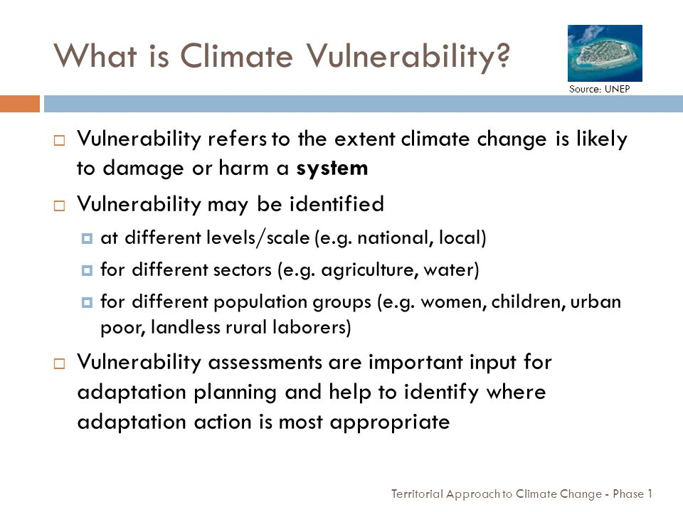 What is Climate Vulnerability