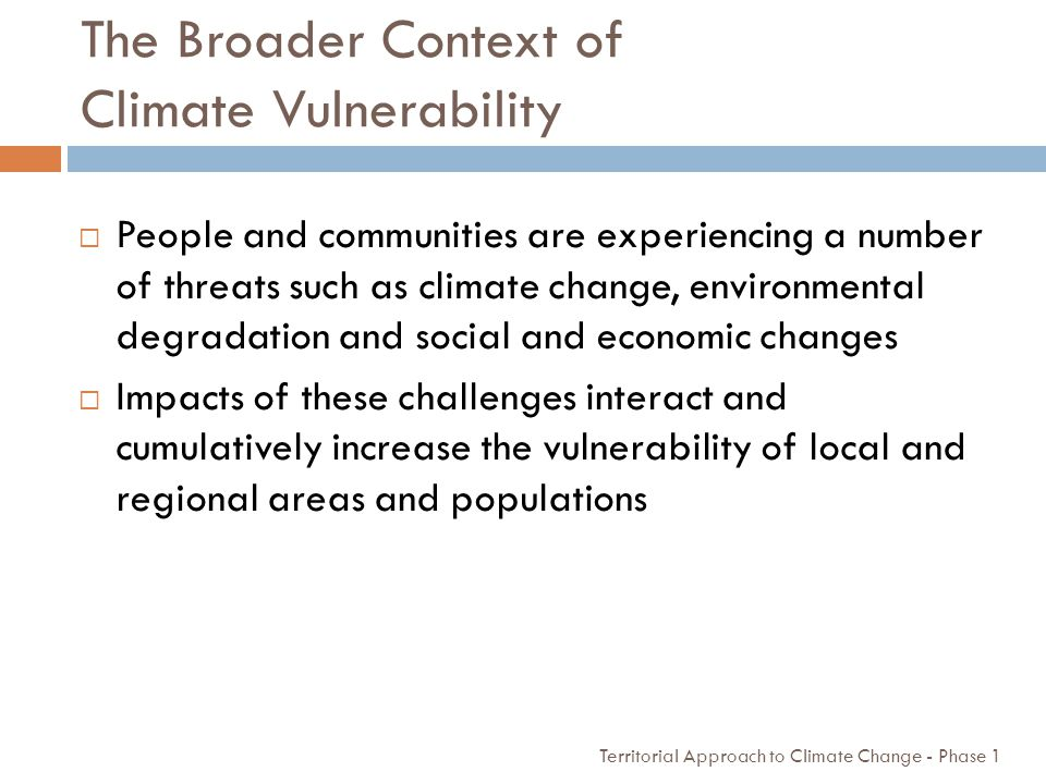 The Broader Context of Climate Vulnerability
