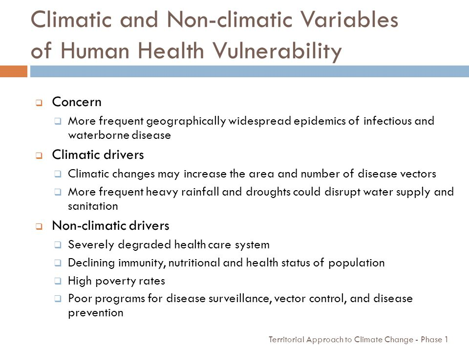 Climatic and Non-climatic Variables of Human Health Vulnerability