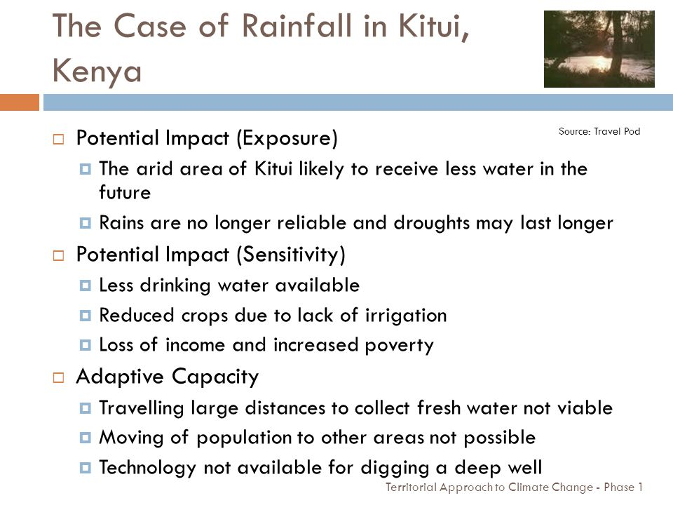 The Case of Rainfall in Kitui, Kenya