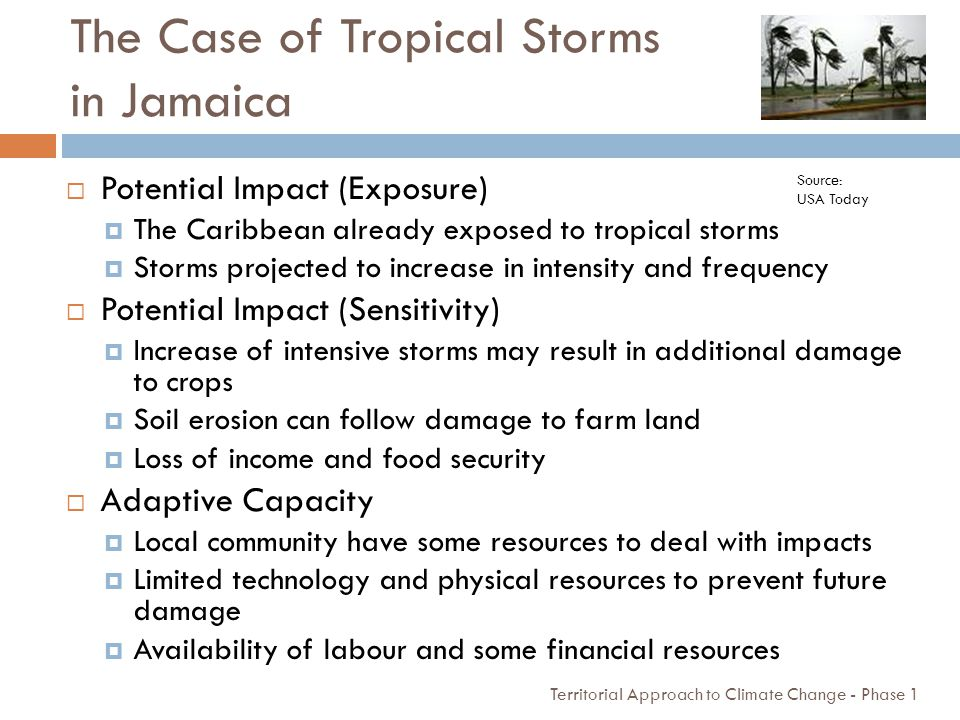 The Case of Tropical Storms in Jamaica