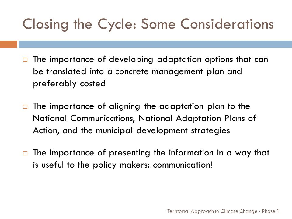 Closing the Cycle: Some Considerations