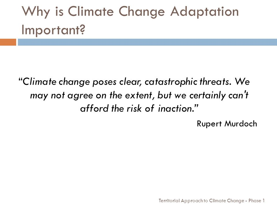 Why is Climate Change Adaptation Important