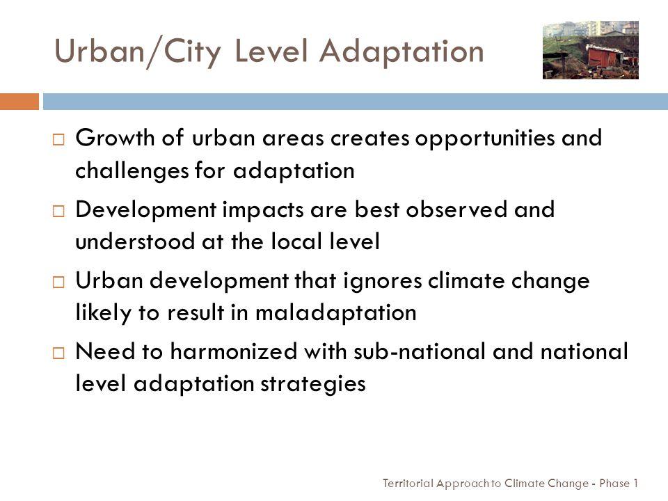 Urban/City Level Adaptation