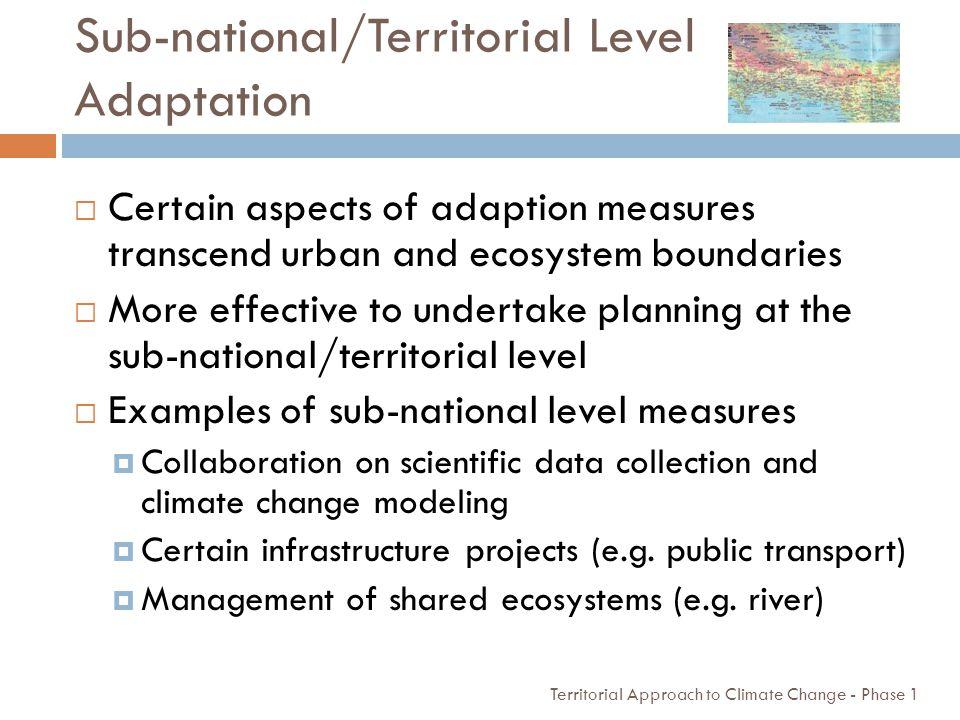 Sub-national/Territorial Level Adaptation