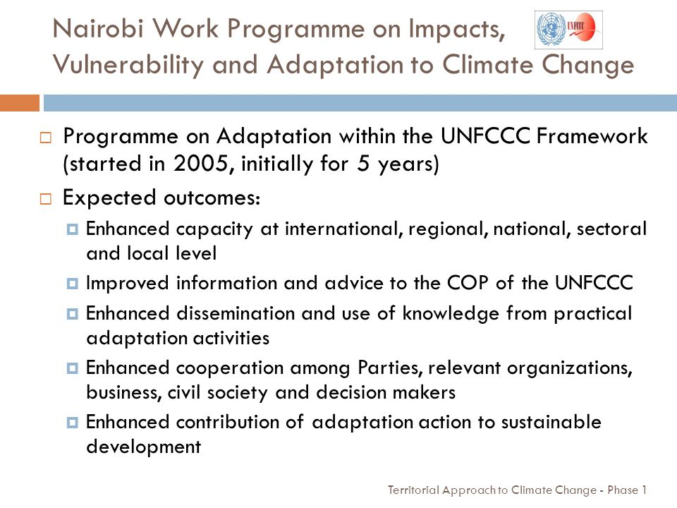 Nairobi Work Programme on Impacts, Vulnerability and Adaptation to Climate Change