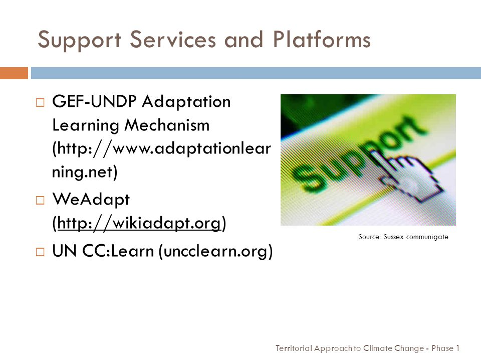 Support Services and Platforms