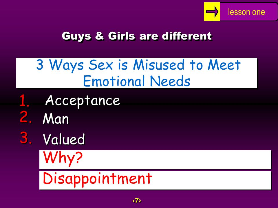 Guys & Girls are different