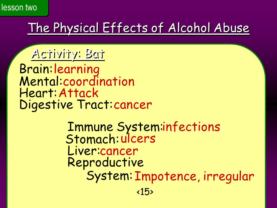 The Physical Effects of Alcohol Abuse