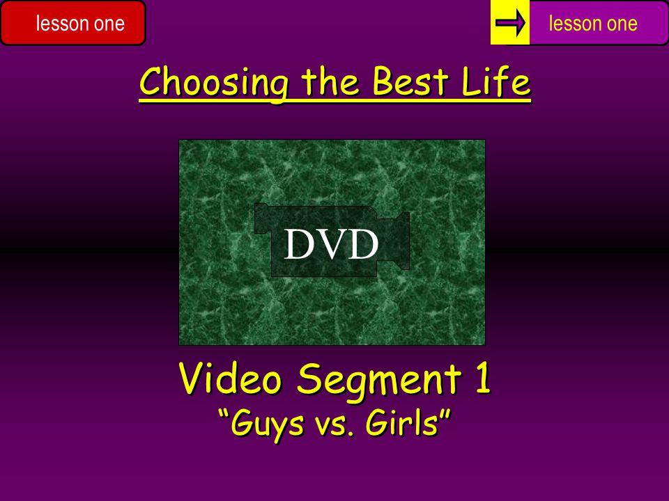 Video Segment 1 Guys vs. Girls