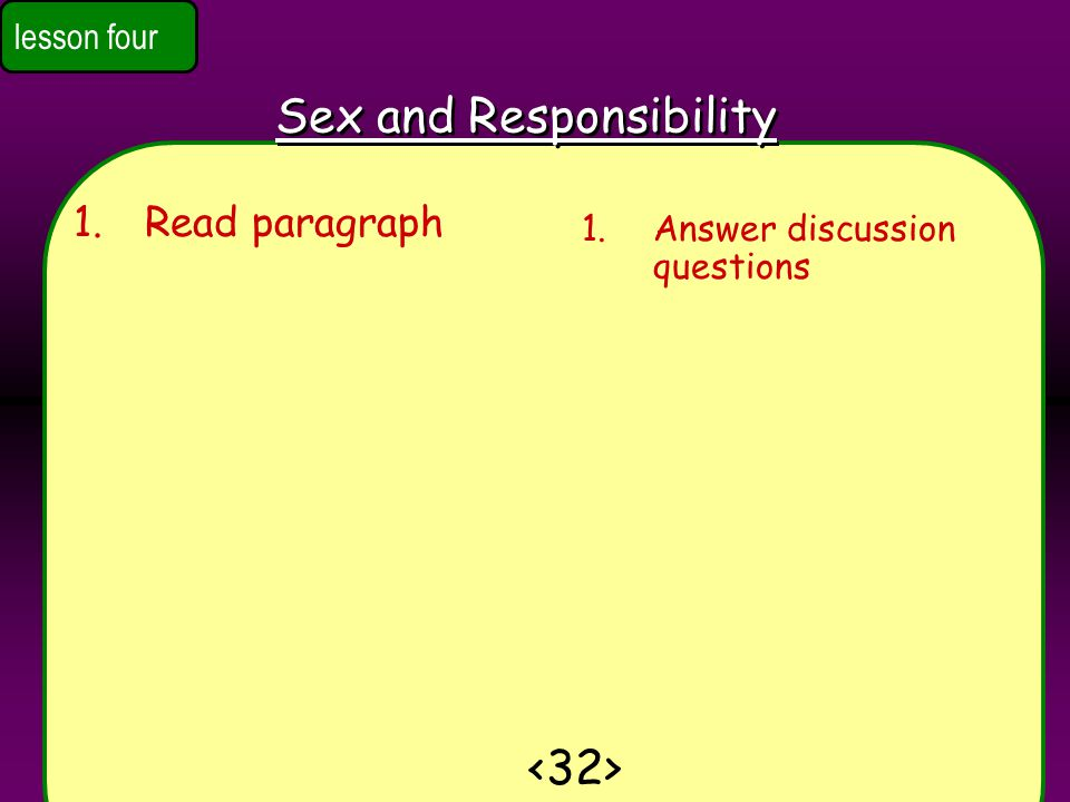 Sex and Responsibility