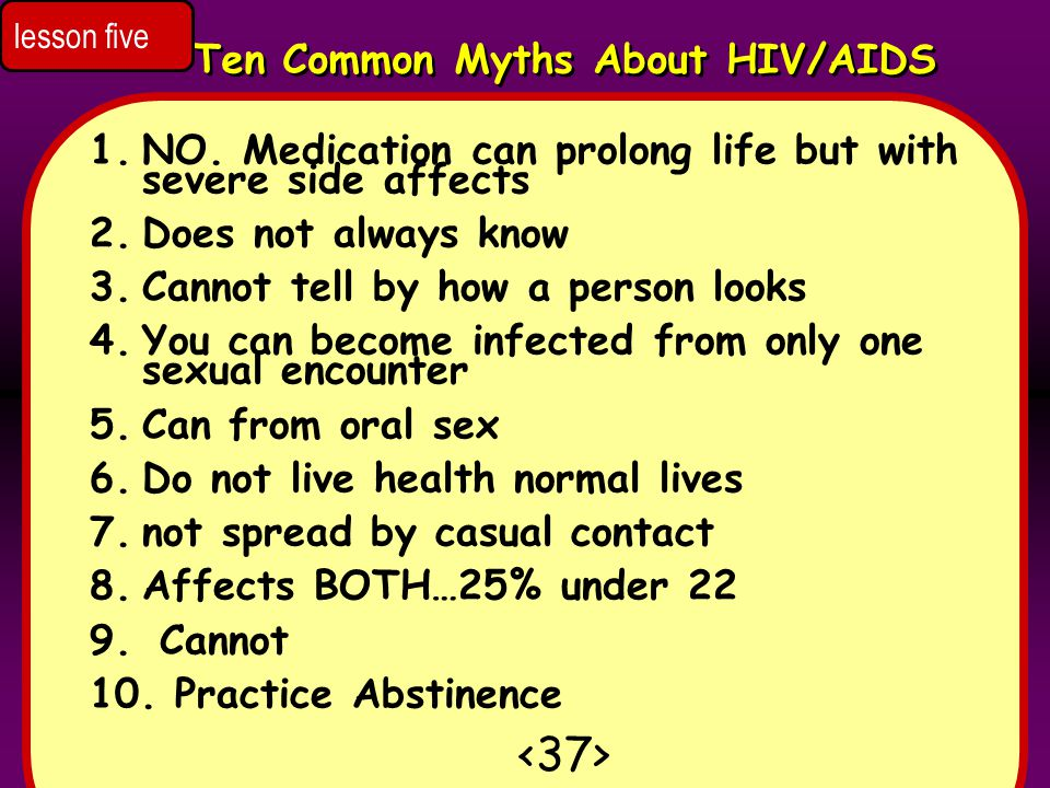 <37> Ten Common Myths About HIV/AIDS