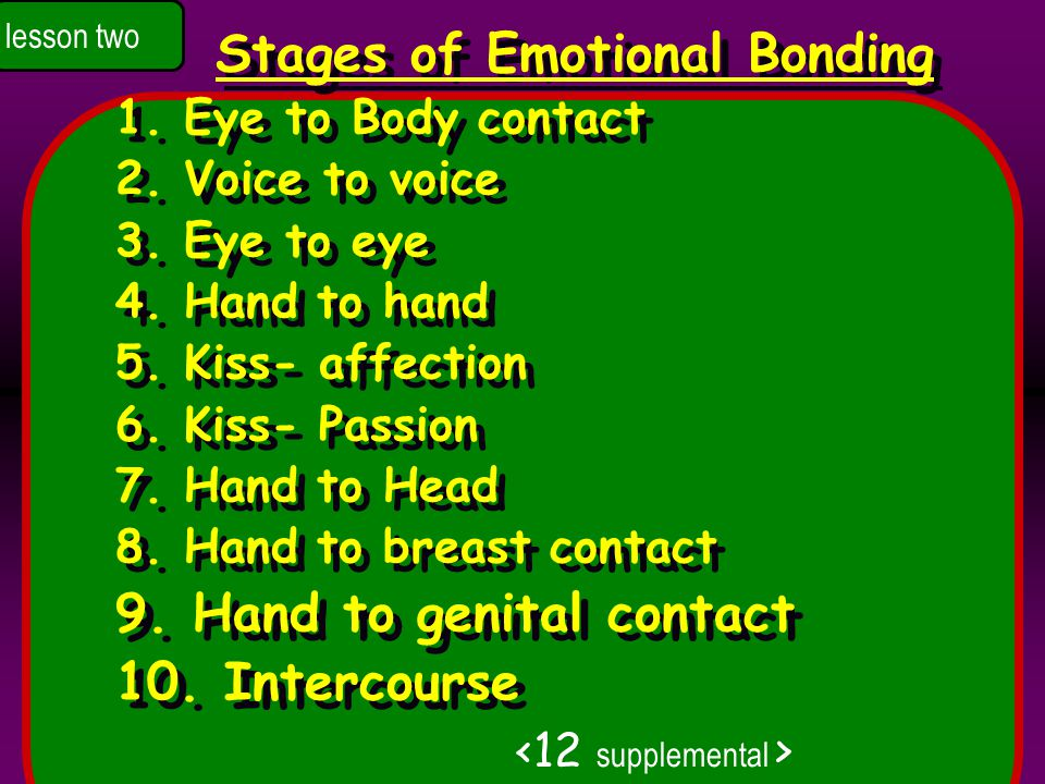 Stages of Emotional Bonding