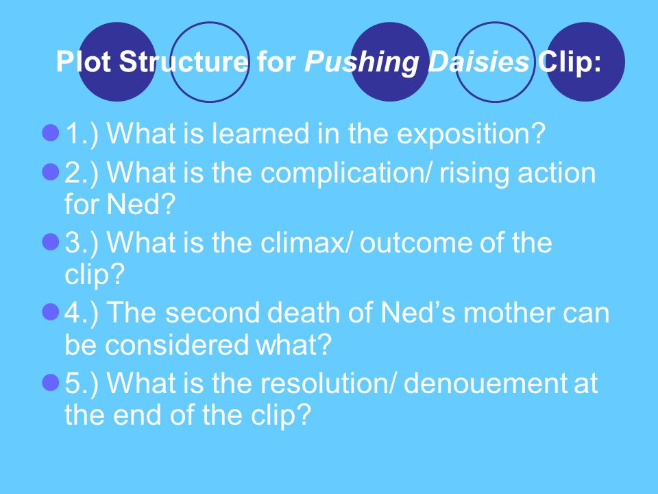Plot Structure for Pushing Daisies Clip:
