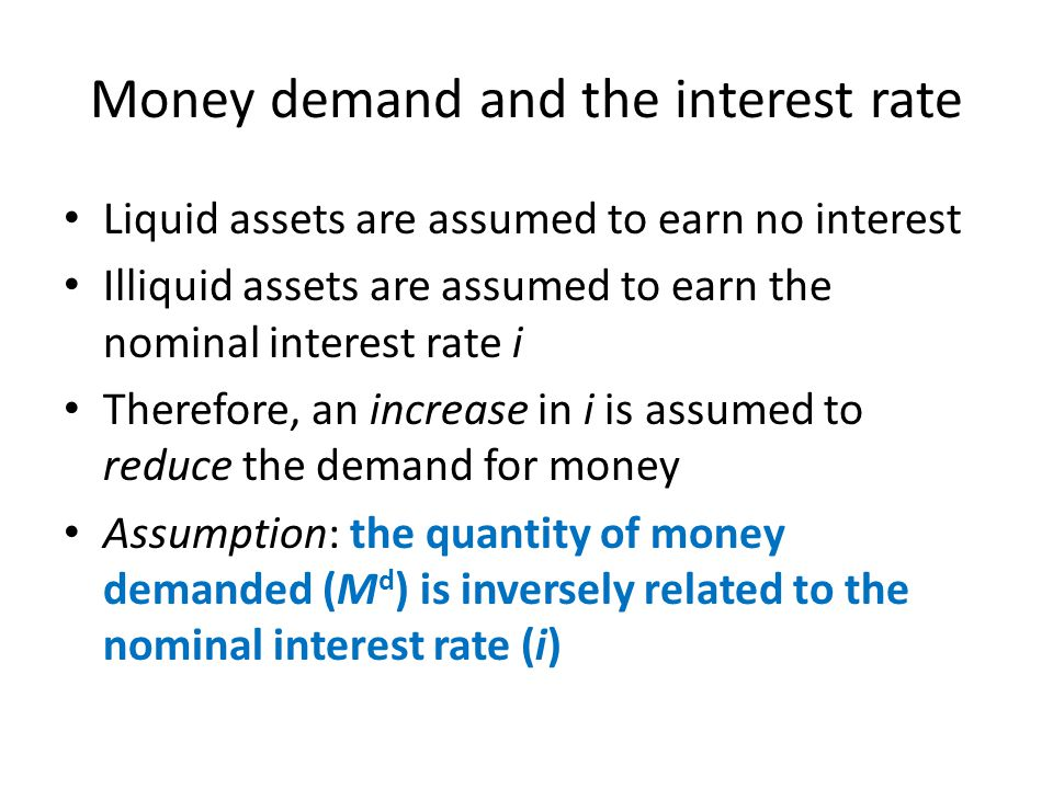 Money demand and the interest rate