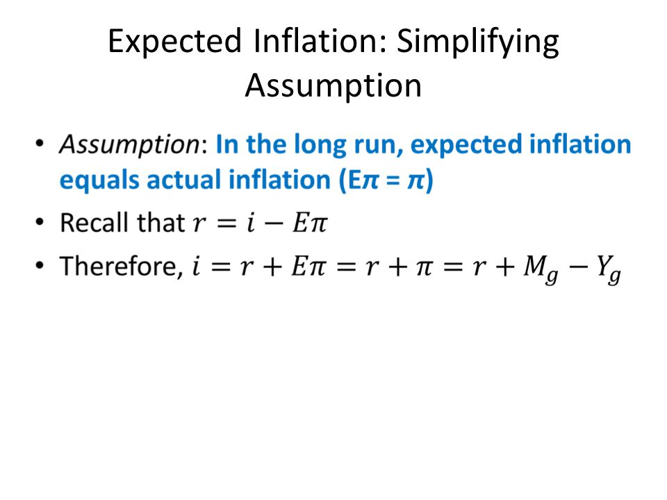 Expected Inflation: Simplifying Assumption
