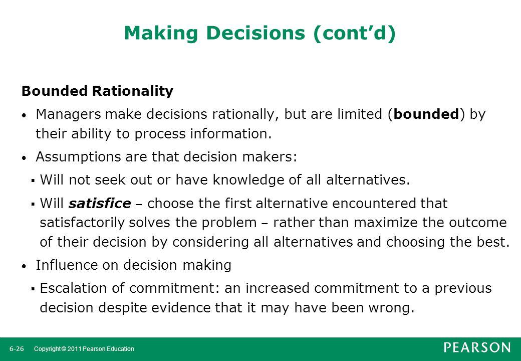 Making Decisions (cont'd)