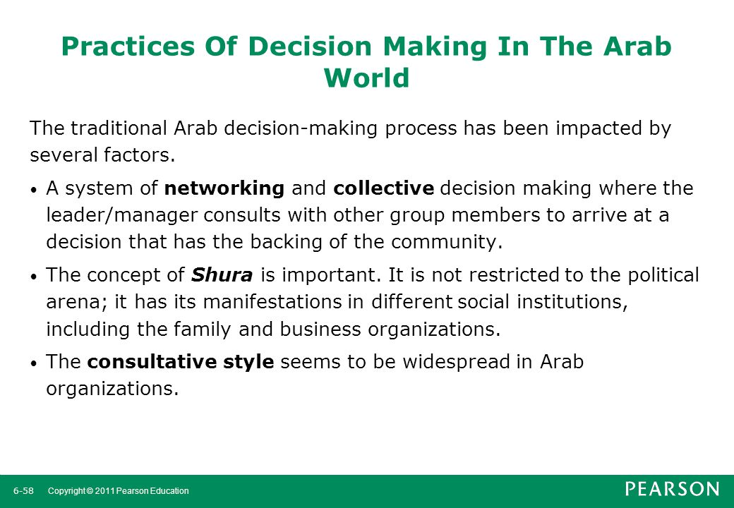 Practices Of Decision Making In The Arab World