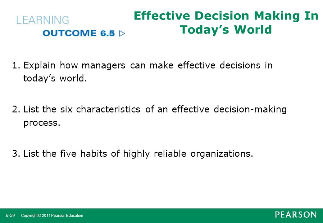 Effective Decision Making In Today's World