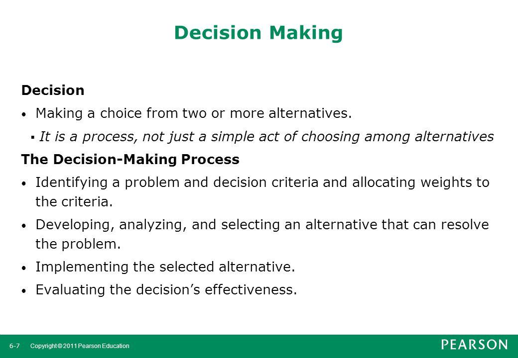 Decision Making Decision