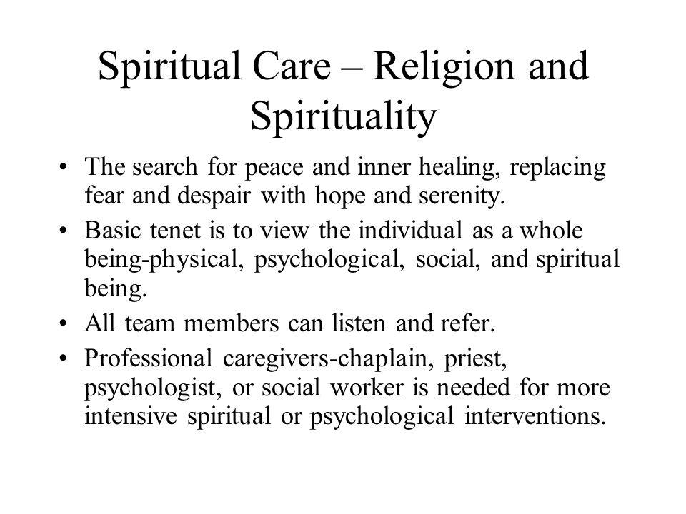 Spiritual Care – Religion and Spirituality