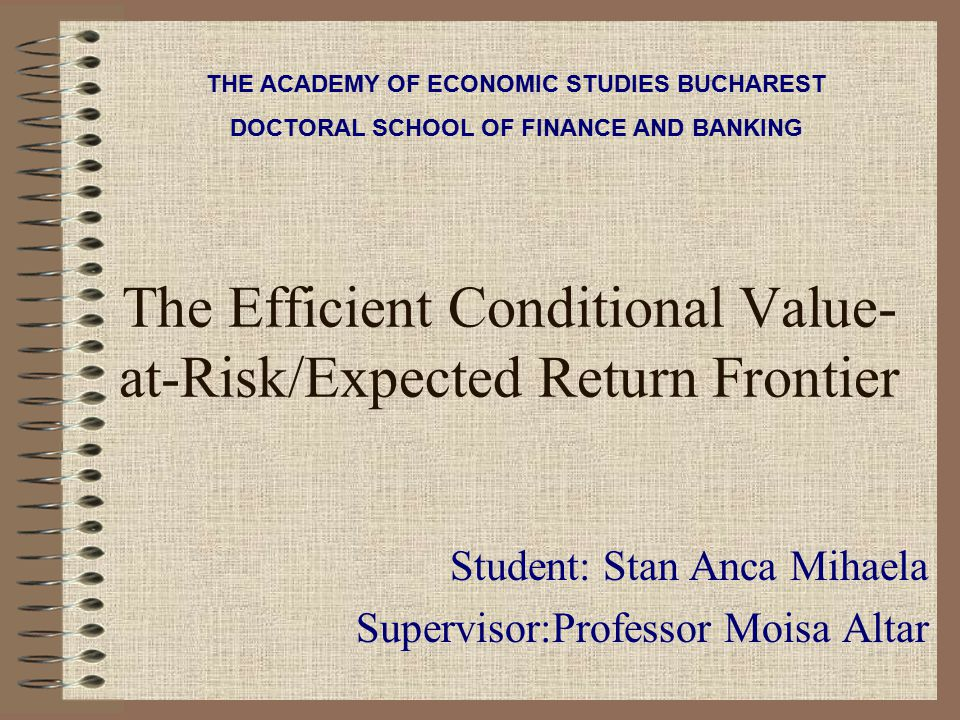 The Efficient Conditional Value-at-Risk/Expected Return Frontier