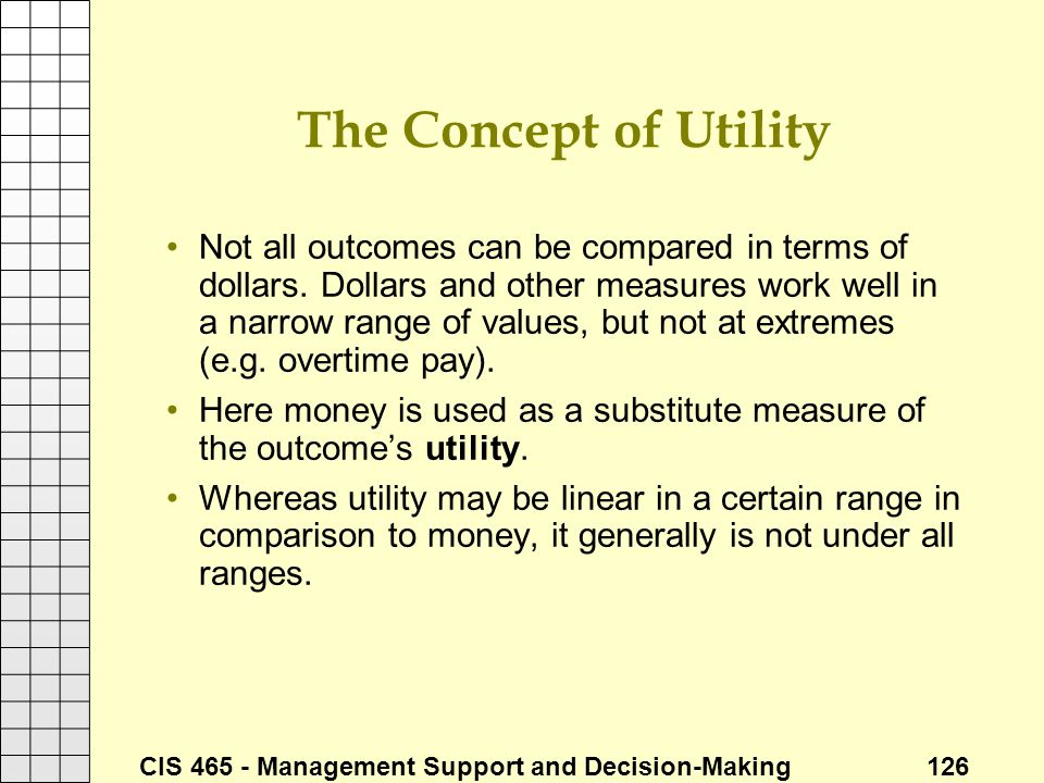 The Concept of Utility