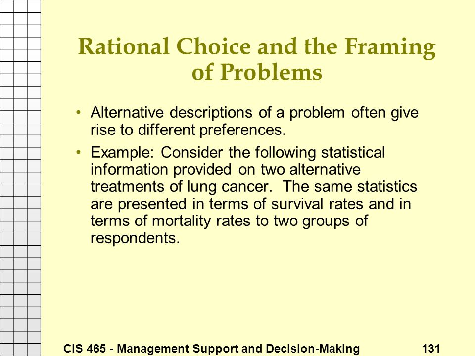 Rational Choice and the Framing of Problems