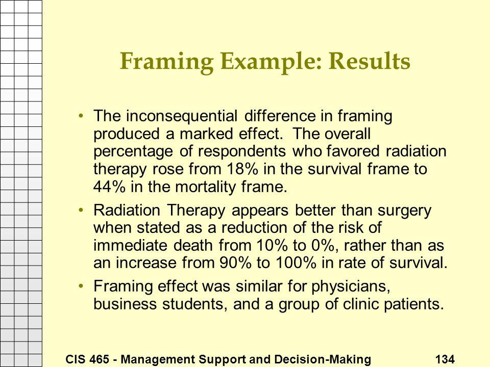 Framing Example: Results