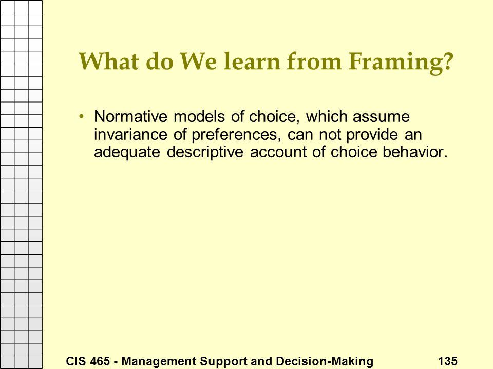 What do We learn from Framing