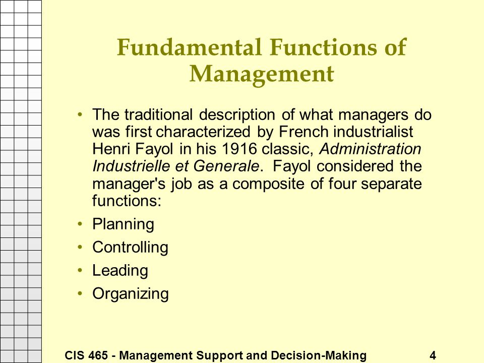 Fundamental Functions of Management