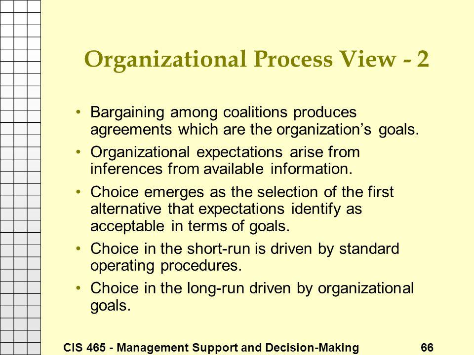 Organizational Process View - 2
