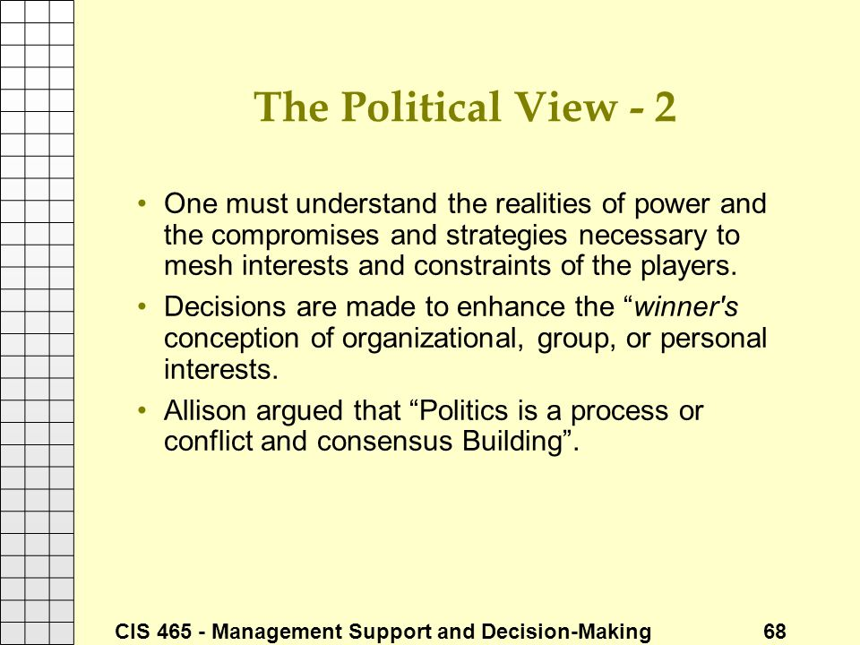 The Political View - 2