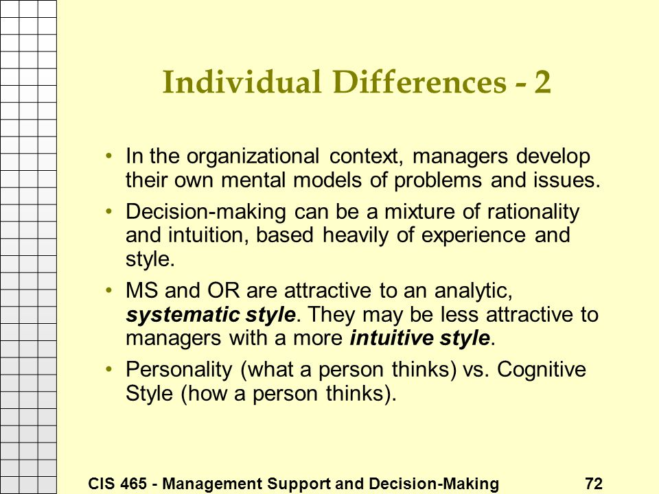Individual Differences - 2