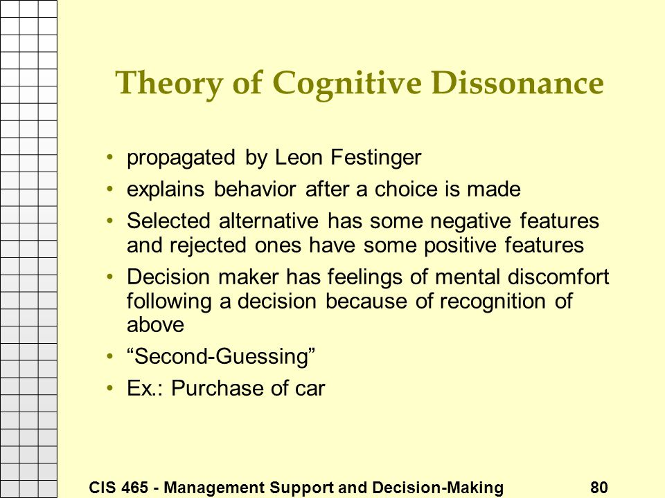 Theory of Cognitive Dissonance