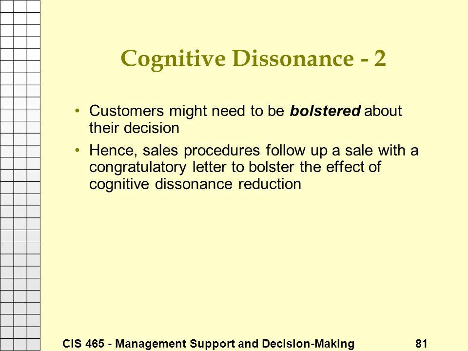 Cognitive Dissonance - 2